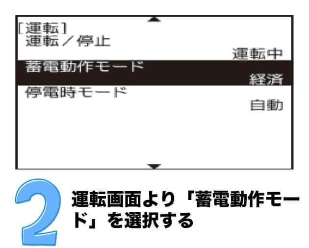 蓄電動作モード変更手順【売電48円→7.0円/kwh変更時】